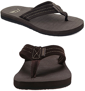 Quiksilver Men's Carver Suede 3-Point Flip Flop review