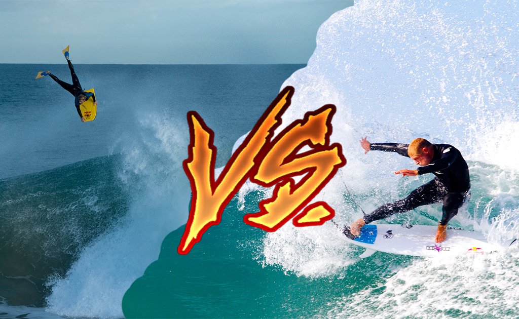 Bodyboarding vs. Surfing