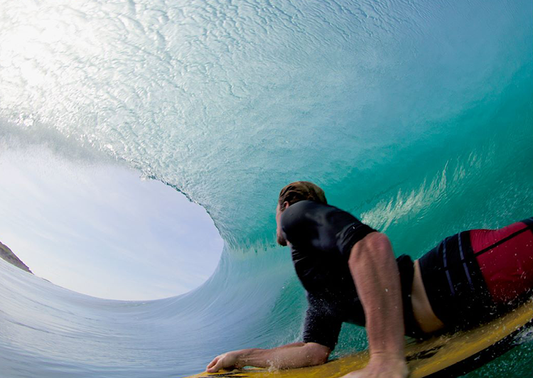Mitch Rawlins barrel tube wave view image