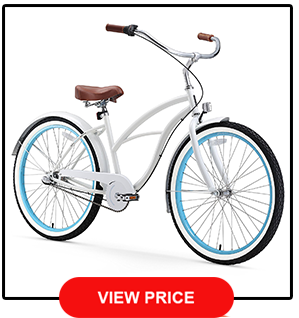 sixthreezero Womens 26 Inch Beach Cruiser Bicycle