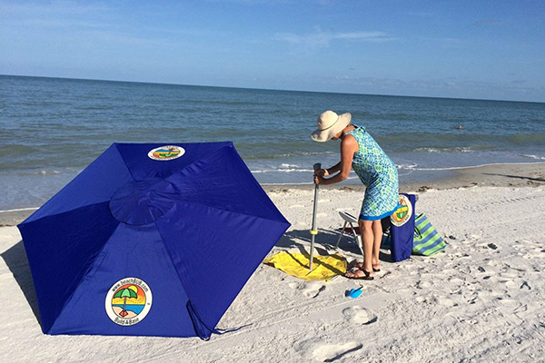 Umbrella setup at Beach
