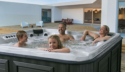 family in a tub